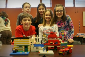 Group of LEGO Club builders
