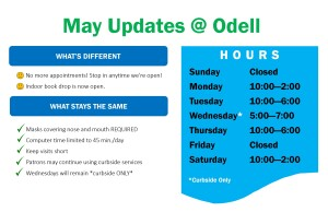 May hours and updates 2021